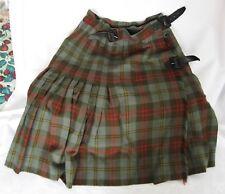 .Vintage 1960s Woman s Plaid Imported Authentic Tartan Skirt. Size 12