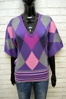 BENETTON Mantella in Lana Maglione Cardigan Donna Taglia Unica Sweater Maglia
