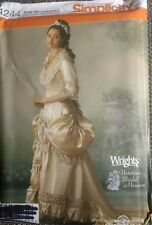 Simplicity Pattern 4244 Victorian Wedding Gown Dress Costume Plus Size 14-20