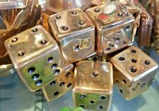 "Solid Brass Mini Dice 1"" Made in India Buy 2 Get 3rd Item Free"