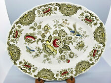 Windsor Oval Platter Ridgway of Staffordshire England 1792 Green White Red Blue