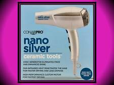 NEW! CONAIR PRO NANO SILVER CERAMIC TOOLS 2000 WATT FAR INFRARED HAIR BLOW DRYER