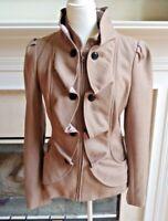 Anthropologie Idra Cream Confection Camel Peacoat Jacket Blazer - Size 8 Tan