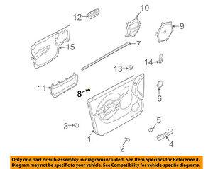 Chevrolet GM OEM 04-05 Aveo Front Door-Lock Knob Guide 96537409