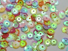5000 Mixed AB Color 6mm CUP round loose sequins Paillettes sewing Wedding craft