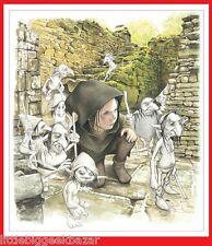 BRUCERO Merlin Korrigan Elfes tiré à part ex libris affiche poster 36x32 #NEUF#