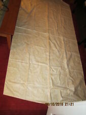 """Lot of 4 Four Antique Drapes Panels - Tan & Cream Colored - 80"""" by 53"""" by 112"""""""