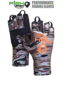 Fish Monkey Backcountry II Half Finger Insulated Glove FM29FALLWTRCAM 4 Sizes