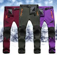 Men Women Soft Shell Climbing Pants Tactical Cargo Combat Hiking Trousers Unisex