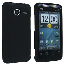 Black Snap-On Hard Case Cover for HTC Evo Shift 4G A7373