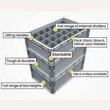 Glassware Storage Crates, Champagne Flute and Wine Glasses Crates - Super Tough