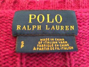 Ralph Lauren - Ladies Pink Wool / Cashmere Jumper -  Uk Size Small
