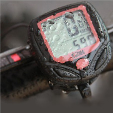LCD Digital Waterproof Bike Bicycle Computer Cycle Speedometer Odometer Wired