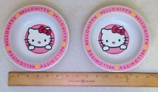 Set of 2 Trudeau Plastic Bowls 2004 Sanrio Hello Kitty