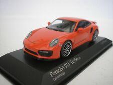 Porsche 911 TURBO S 2016 Lava Naranja 1/43 Minichamps 410067171 Nuevo