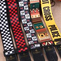 Nylon Guitar Strap For Acoustic Electric Bass Adjustable Soft Nylon Webbing Belt