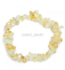 Citrine Chips Bracelet Crushed Stones Beaded Hand Stretch Bangle