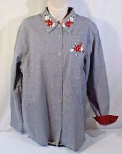 Cabin Creek Long Sleeve Size Large Christmas, Holiday, Embroidered
