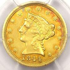 1844-C Liberty Gold Quarter Eagle $2.50 - Pcgs Vf Details - Rare Charlotte Coin!