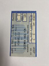 1994 New York Rangers vs Pittsburgh Penguins Ticket October 3rd Seat 9