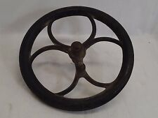 Large Vintage Cast Iron Metal Pulley Gear Wheel Industrial Steampunk Base 10""