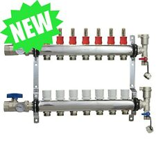 7 Loopport Stainless Steel Pex Manifold Radiant Heating With Connectors Pex Guy