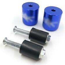 BLUE Hand Bar End Rubber For 1999-2012 Suzuki GSXR 600 750 1000 GSX1300R Hayabus
