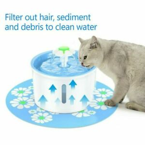 8PC Dog Cat Water Fountain Filter Carbon Pet Flower Auto Drinking Bowl Dispenser