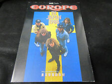 Europe in Japan 1988 Book Contains DBL Bind Fold Poster Pages 1989 Joey Tempest