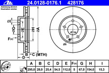 Bremsscheibe (2 Stück) - ATE 24.0128-0176.1