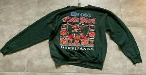 Vintage University of Miami Hurricanes Fiesta Bowl Crewneck Sweatshirt Men's 2XL