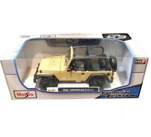 Maisto 1:18 2014 Jeep Wrangler Rubicon Tan 4x4 SUV Kids Diecast Model Toy Car