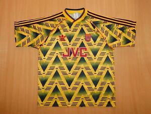 sale ARSENAL 1991 1992 away shirt jersey camiseta soccer 91 Adidas banana 90's