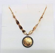 Collana Oro Giallo 750/18KT con 30 Zaffiri Blu
