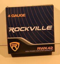 Rockville RWK42 4 Gauge Complete Car Amp Wiring Installation Wire Kit w/RCA's