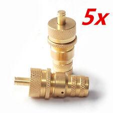 5*4WD Brass Universal Off-Road Automatic Tyre Tire Deflators Kit Set 6-30 PSI