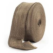 "2.5cm x 4.5 M / 1"" x 15FT Volcano Exhaust Pipe Manifold Heat Tape Wrap & 10 Ties"