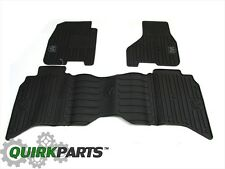 09-12 Ram 1500 & 10-12 Ram 2500 3500  CREW CAB Slate Gray Slush Mats OEM MOPAR