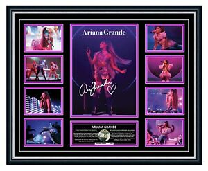 ARIANA GRANDE 2020 SWEETENER THANK U, NEXT WORLD TOUR SIGNED FRAMED MEMORABILIA