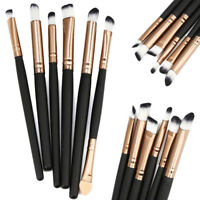 6Pcs Eyeshadow Blending Makeup Brush Set Powder Foundation Eyeliner Brushes NEW