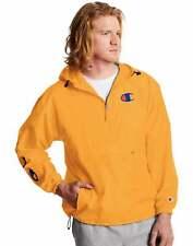 Champion Men's Windbreaker Pullover Anorak Half Zip Hooded Jacket Size M