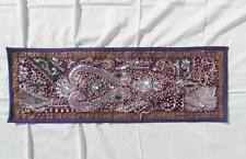 """30X10"""" Indian Cotton Beaded Patchwork Tapestry Kundan Decorative Wallhanging J02"""