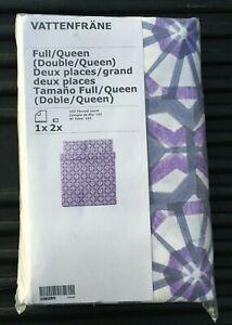 New IKEA Vattenfrane Duvet Cover and Pillowcase Set, Full Queen Size, Purple