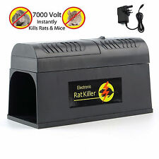 ELECTRIC MOUSE RAT TRAP RODENT KILLER ELECTRONIC ZAPPER POISON FREE PEST CONTROL