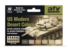 US Modern Desert Colors: 6 Airbrush Paints for Model Vehicles (Vallejo 71209)