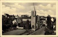 Reichenbach im Vogtland DDR s/w Postkarte 1957 Partie an der katholischen Kirche