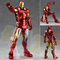 Figma 217# The Avengers Iron Man PVC Figure Model 16cm New