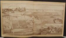 California Tulare County Map Paige & Morton Fruit Ranch 1892  !W12#78