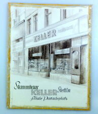 Orig.-Zeichnung Mercedes-Schuhe KELLER Paradeplatz STETTIN, um 1930, Reklame