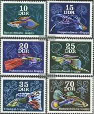 DDR (RDA) 2176-2181 (completa.edición) usado 1976 Los peces ornamentales